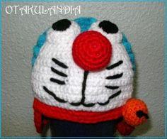 Doraemon con orejeras, gorrito basado en uno de los personajes favoritos de todos los niños del mundo... calentito, confortable, divertido, original y diferente... se convertirá en el más querido de tus peques!!