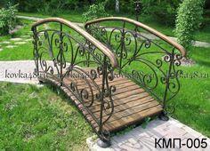 puentes, puentes de hierro forjado jardín, forja Lipetsk