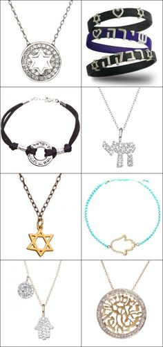 10 Meaningful Bar & Bat Mitzvah Gift Ideas - Jewish Jewelry from Alef Bet by Paula - www.mazelmoments.com/blog/22961/bar-bat-mitzvah-gifts-gift-ideas-thoughtful-meaningful-creative/