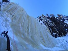Joel and Miia at Ruskeavirta, Korouoma, Finland Snow And Ice, Finland, Mount Everest, Geo, Nature, Outdoor, Outdoors, Naturaleza, Nature Illustration