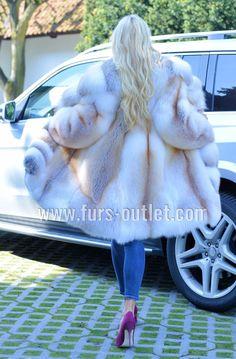 GOLDEN ISLAND ROYAL FOX FUR COAT CLASS- CHINCHILLA SABLE MINK SILVER LONG JACKET