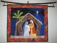 Nativity mini quilt.  Love this!