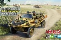 WWII German PKW K2s Schwimmagen Type 166 Vehicle 1/35 Hero Hobby Kits