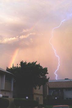 RAINBOW AND LIGHTNING (by KAJYA)