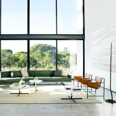 Simple lines accentuating the elegance of a timeless brand. Discover @poltronafrauofficial 's living room with a marvellous Forest green Kennedee sofa two Mings Heart armchairs and a New Deal armchair. And the Bob small tables at different heights. #archiproducts #design .  _ Follow @archiproducts [550k]  Use #archiproducts in your design pics  Visit http://ift.tt/TJod75 _ #design #archilovers #instahome #instadesign #homedesign#interiordesign #architecture #decor #architect #interieur…