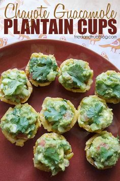 Chayote Guacamole Plantain Cups - perfect appetizers for the World Cup! #worldcup #appetizer