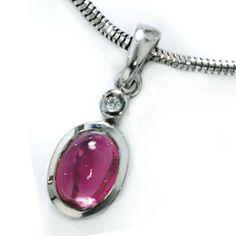 Damen-Anhänger 1 Diamant-Brillant 14 Karat (585) Weißgold 0.01 ct. 1 Turmaline Dreambase, http://www.amazon.de/dp/B00AWADKYQ/ref=cm_sw_r_pi_dp_hTijtb1Z0HVS0