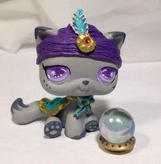 HobbyMomCustoms Littlest pet shop Cat * Fortune Teller Kitty * Custom Hand Painted LPS OOAK #Hasbro