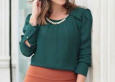 Blouse, Long Sleeve, Sleeves, Tops, Women, Fashion, Blouse Band, Moda, Full Sleeves