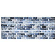 Zumi Glass Mosaic - Delft Blue - Natural