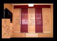 Un ejemplo de japonés corto de 5 vías con gotera acolchada, 3 paneles bordados y 2 de color