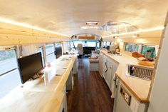 This is Will Hitchcock and Alyssa Pelletier's custom DIY school bus motorhome who bought the bus for $5,500 and immediately did $2,000 in repairs and maintenance to prepare it for the convers…