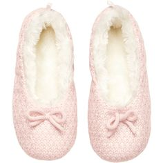 H&M Knitted slippers (€9,14) ❤ liked on Polyvore featuring shoes, slippers, pajamas and lingerie