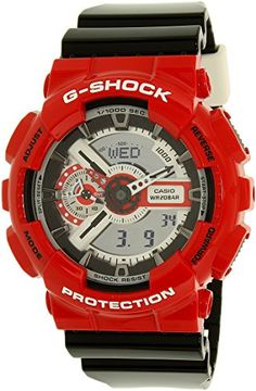 8dd78c87987 G-Shock Unisex GA-110RD-4ACR Red Watch Casio https