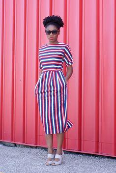 Stripped ASOS dress