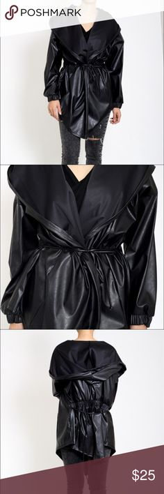 4TH SALE Oversized Leather Tie Jacket/Hoodie We're clearing out stock and pretty much GIVING things away. Send us your best offer. No low-balling please! Jackets & Coats