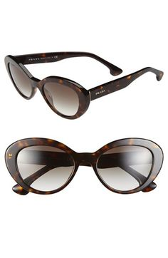 Prada 53mm Cat Eye Sunglasses available at #Nordstrom