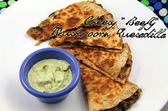"Cheesy ""Beefy"" Mushroom Quesadilla {recipe} #MeatlessMonday   Nice Photo"
