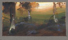 Nathan Fowkes, gouache landscape
