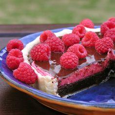 Raspberry TruffleTart ...... Dark chocolate, tangy raspberry filling topped with glaze - rich & creamy dessert