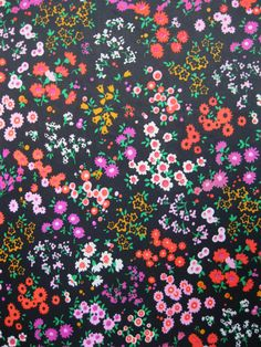 fabric flowers pattern RHS