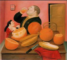 Fernando Botero Man drink Orange Juice painting for sale, this painting is available as handmade reproduction. Shop for Fernando Botero Man drink Orange Juice painting and frame at a discount of off. Frida Diego, 19 Avril, Plus Size Art, Orange Painting, Mexico Art, Naive Art, Famous Artists, Paintings For Sale, Oil Paintings