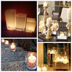 Práticas e com formas variadas, as velas são uma ótima alternativa para decorar sua casa ou evento.