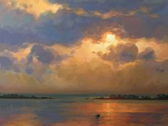 Evening on the Water | Kathleen B. Hudson, artist | Oil painting