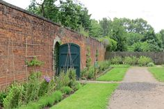 Gate leading into the walled fruit and vegetable garden at Shugborough Estate