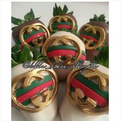 Gucci inspired chocolate covered strawberries