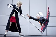 Maka and Soul cosplay - This is actually sort of funny...