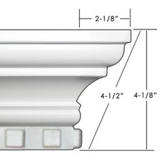 Easy Crown Molding D-I-Y peel & stick crown molding. Easy Crown Molding, Diy Crown, Molding Ideas, Wood Molding, Home Room Design, House Design, Wooden Cornice, Moulding Profiles, Concrete Porch