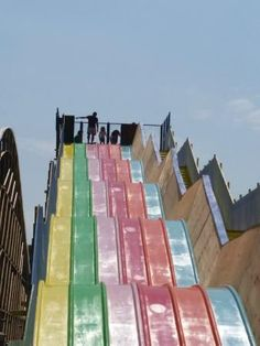Pastel Slide Dreamland Magate, Kent England UK Britain's Oldest Amusement Park