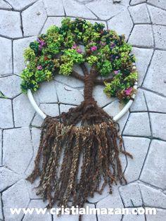Árbol de la vida tipo mandala de lana, 50cm de diámetro! Inicio de talleres 21 de enero de 2017