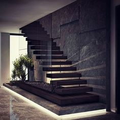 By Demirhan Gurman Via: by architecture_hunter Home Stairs Design, Interior Stairs, Dream Home Design, Modern House Design, Modern Stairs Design, Interior Office, House Staircase, Architecture Design, Staircase Architecture