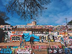 Hope Outdoor Gallery. Located on Castle Hill at 11th and Baylor streets in Austin