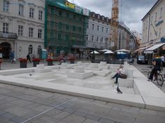 Place of Encounter, made by the Israeli artist Dani Karavan, on the foundation of the medieval synagogue. Step Guide, Landscape Architecture, Medieval, Foundation, Germany, Street View, City, Places, Holiday