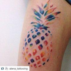 pineapple tattoo watercolor - Google Search