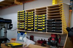 Small parts storage - great DIY solution similar to Sortimo, but way less expensive.