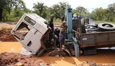 Not a great place to break down - the main road between Sierra Leone and Liberia (photo via passenger Melanie Horstead) Liberia, West Africa, Sierra Leone, Roads, Great Places, Fun, Travel, Road Routes, Street