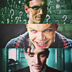 The Riddler, The Joker (?), and the Penguin