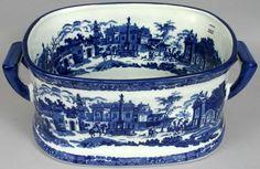 (estimate -$200-250) 1457: 20TH C. BLUE AND WHITE IRONSTONE FOOTBATH : Lot 1457