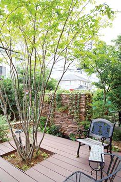 ウッドデッキ / 植栽 / 目隠し / ナチュラルガーデン / ガーデンデザイン / 外構 Garden Design / WoodDeck / Fence