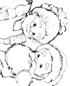 Mr. and Mrs. Claus - Coloring Pages