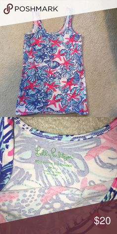 Lilly Pulitzer tank top Great condition, barely worn! Lilly Pulitzer Tops Tank Tops