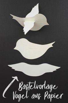 Paper craft template, baby mobile with little birds, plotter freebie, DXF, . Bird Crafts, Easy Crafts, Diy And Crafts, Animal Crafts, Bird Paper Craft, Seashell Crafts, Wooden Crafts, Creative Crafts, Felt Crafts