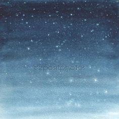Stáhnout - Akvarel ilustrace hvězdné oblohy — Stock obrázek #81739518