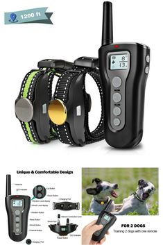 Boniten Dog Training Collar with Remote for 2 Dogs, Waterproof Rechargeable Shock Collar with Beep/Vibration/Electric Shock Modes for Medium Large Upgraded] Dog Training Tools, Best Dog Training, Large Dogs, Small Dogs, Shock Collar, Electric Shock, Training Collar, Best Dogs, Collars