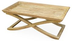 Vesper X-Base Coffee Table, Natural