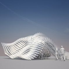 Synaesthetic Filter by Stefan Rutzinger and Kristina Schinegger: a proposed mobile pavilion for experimental music that can change shape to alter acoustic qualities during a performance